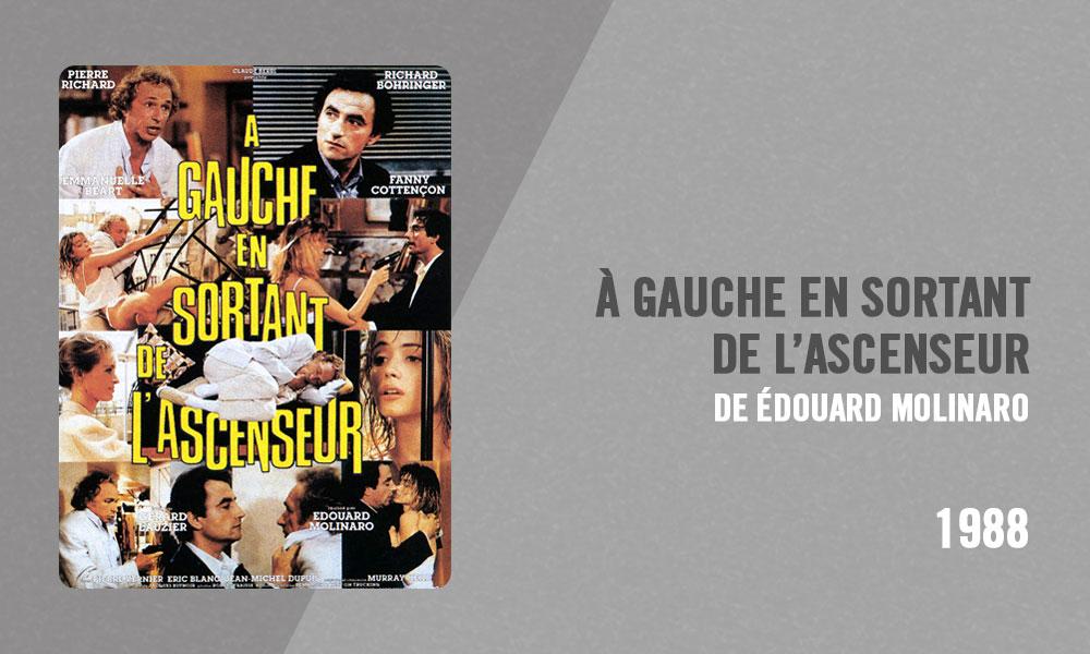 Filmographie Pierre Richard - À gauche en sortant de l'ascenseur (Édouard Molinaro, 1988)