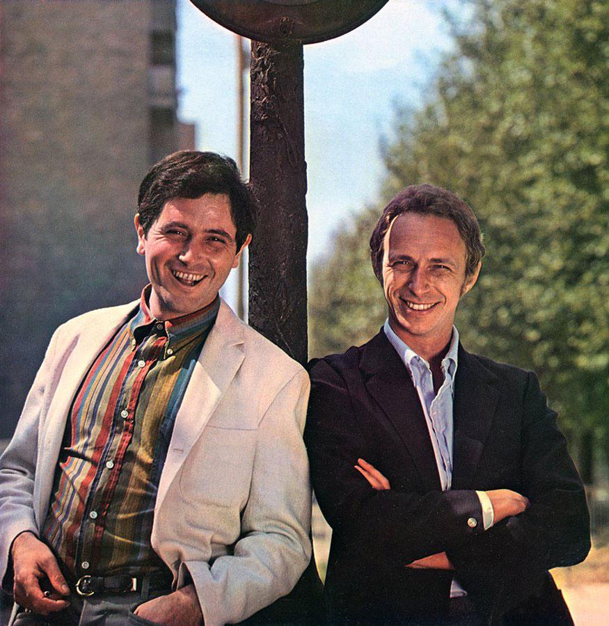 Victor Lanoux et Pierre Richard dans les années 1960 - © collection personnelle de Pierre Rchard