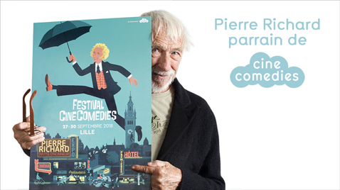 Pierre Richard parrain de CineComedies